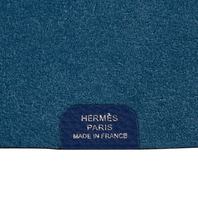 Hermes Ulysse Notebook Cover Blue Electric Mini Model  For Sale 4