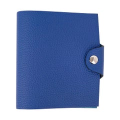Hermes Ulysse Notebook Cover Blue Electric Mini Model