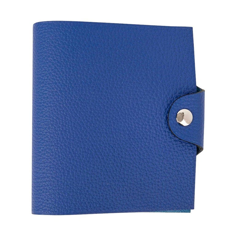 Hermes Ulysse Notebook Cover Blue Electric Mini Model  For Sale