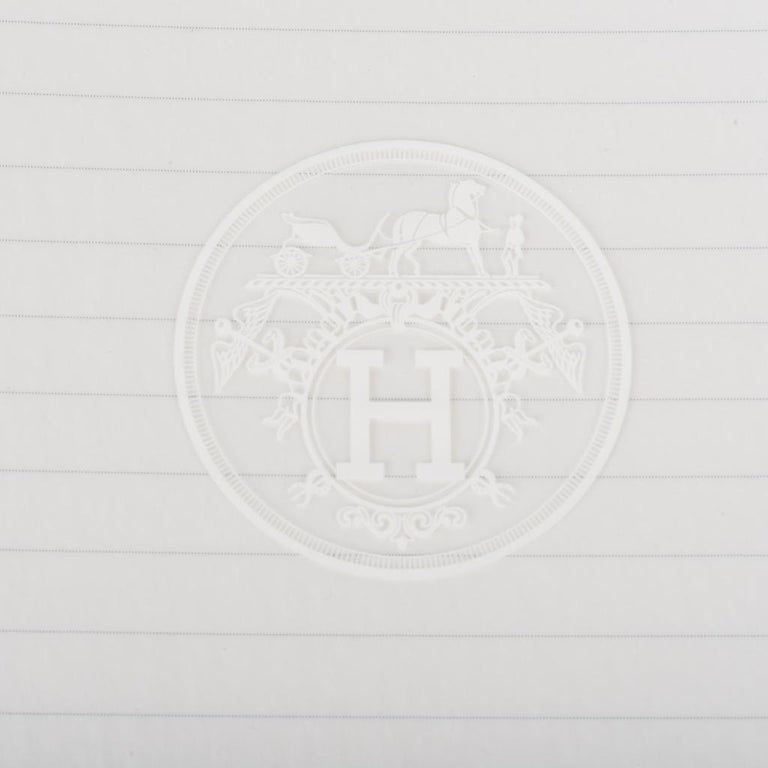 Hermes Ulysse Notebook Cover Gris Mouette PM Model with Lined Paper Refill For Sale 5