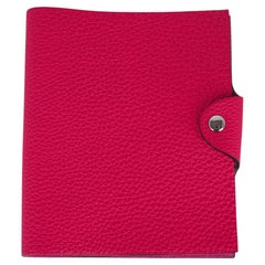 Hermes Ulysse Notebook Cover Rose Mexcio PM Model with Lined Paper Refill