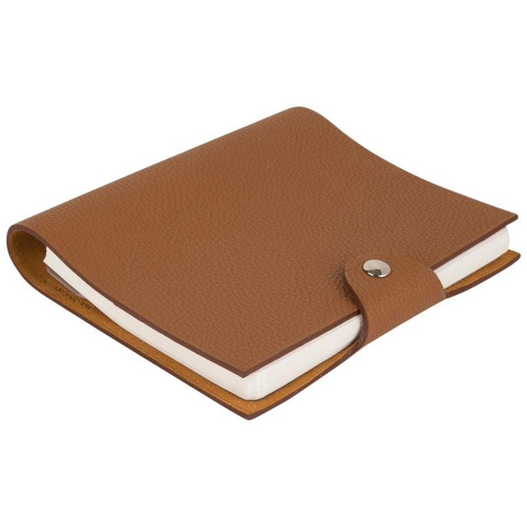 Hermes Ulysse PM Agenda Cover Gold Togo with Refill For Sale