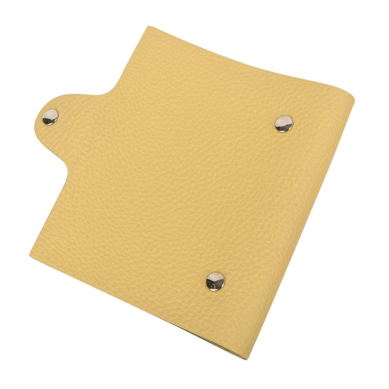Hermes Ulysse PM Notebook Cover Jaune Poussin Model with Lined Paper Refill For Sale 1
