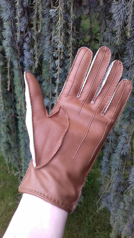 Hermès Unisex Driving Gloves Bi Color Lambskin Leather Size 7,5 In Box 9
