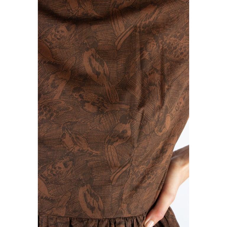 Hermès unusual toile de jouy cotton dress. circa 1960s For Sale 3