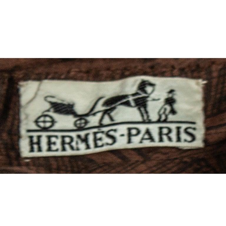 Hermès unusual toile de jouy cotton dress. circa 1960s For Sale 5