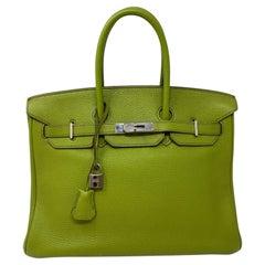 Hermes Vert Birkin 35 Bag