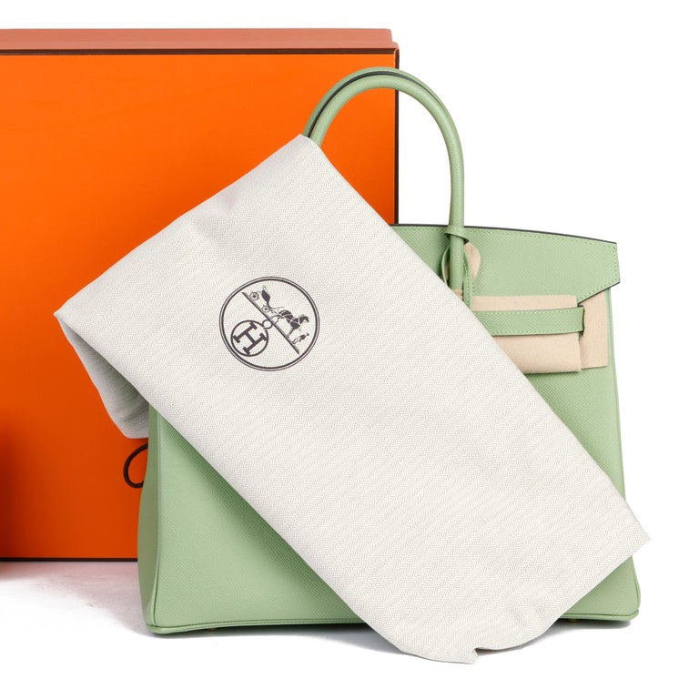 Hermès Vert Criquet Epsom Leather Birkin 35cm  For Sale 7