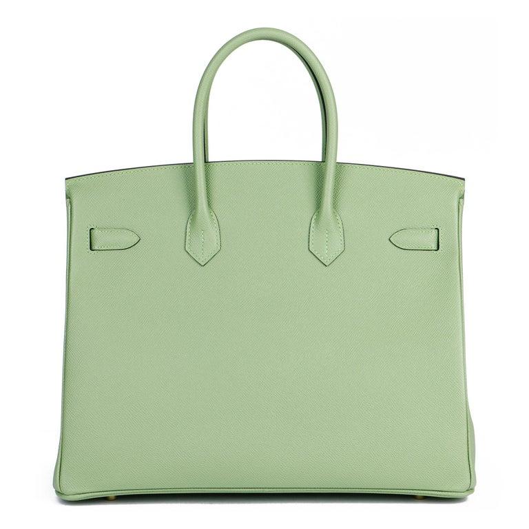 Hermès Vert Criquet Epsom Leather Birkin 35cm  For Sale 1