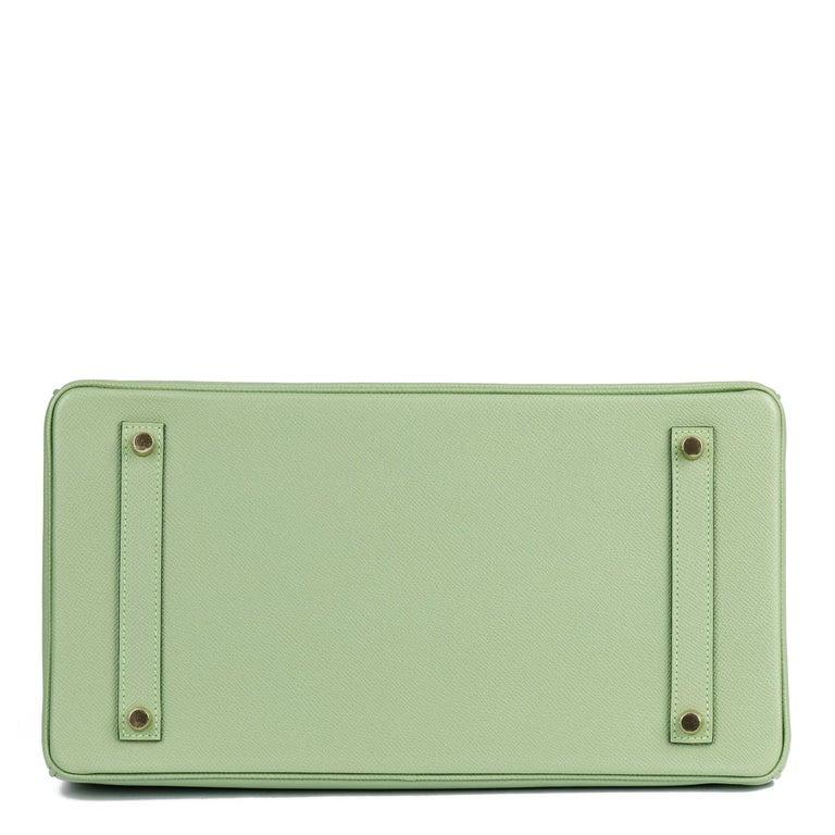 Hermès Vert Criquet Epsom Leather Birkin 35cm  For Sale 2