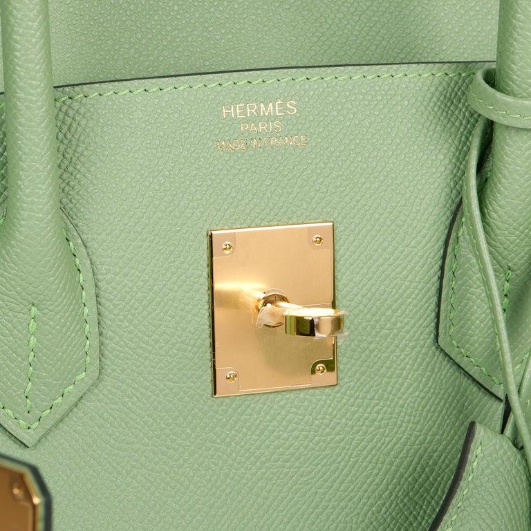 Hermès Vert Criquet Epsom Leather Birkin 35cm  For Sale 4