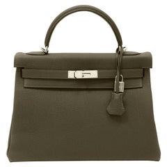 Hermès Vert Maquis Togo 32 cm Kelly with Palladium