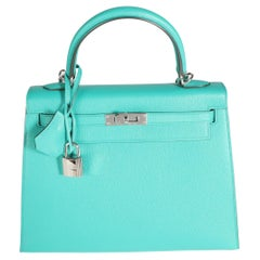 Hermès Vert Vérone Epsom Sellier Kelly 25 PHW