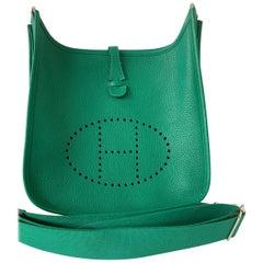 Hermès Vert Vertigo Clemence Evelyne III 29 PM Bag