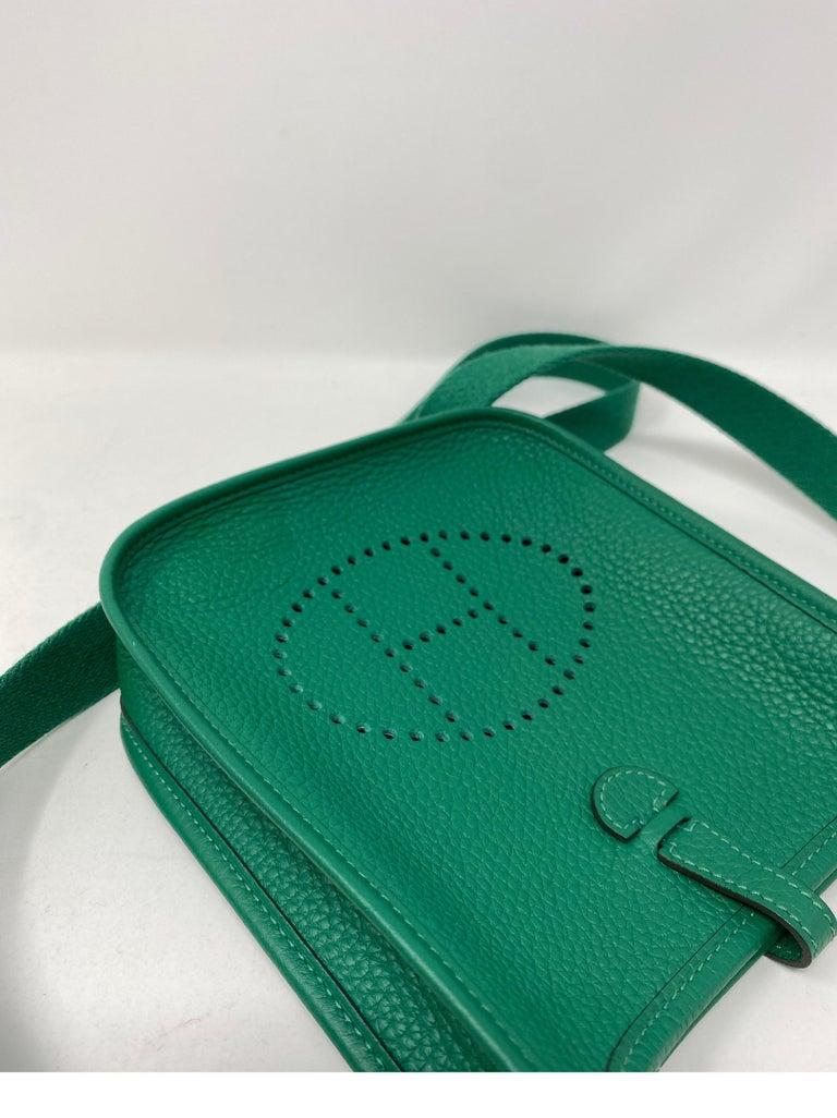 Hermes Vertigo Green Evelyne TPM Bag For Sale 9