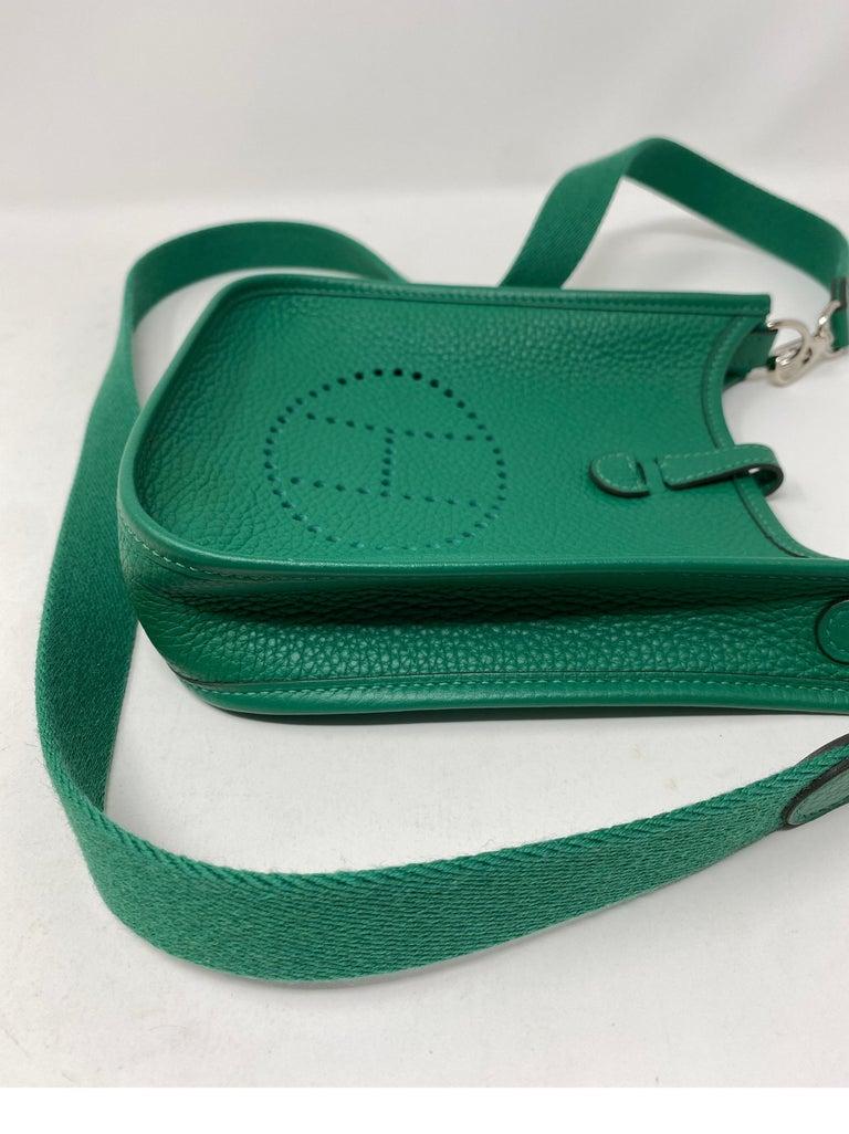 Hermes Vertigo Green Evelyne TPM Bag For Sale 10