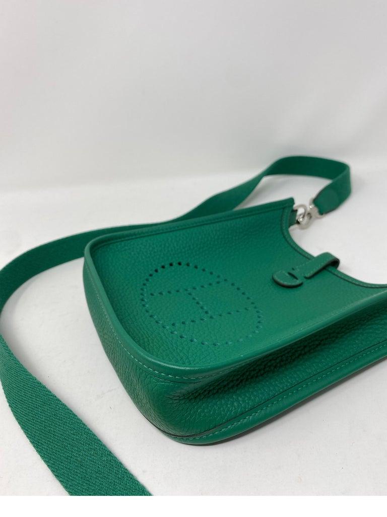 Hermes Vertigo Green Evelyne TPM Bag For Sale 11
