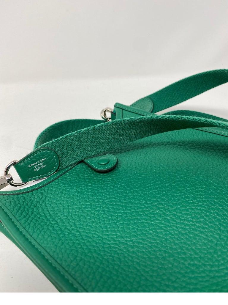 Hermes Vertigo Green Evelyne TPM Bag For Sale 12