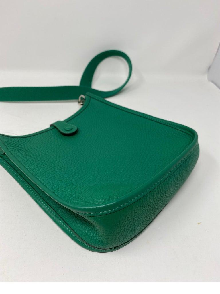Hermes Vertigo Green Evelyne TPM Bag For Sale 13