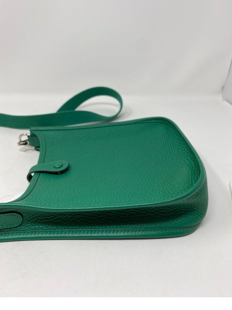 Hermes Vertigo Green Evelyne TPM Bag For Sale 14
