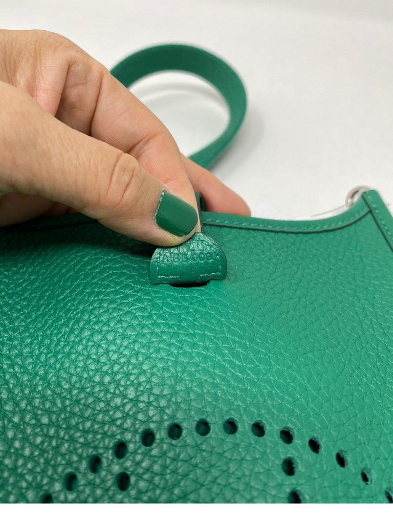 Hermes Vertigo Green Evelyne TPM Bag For Sale 15