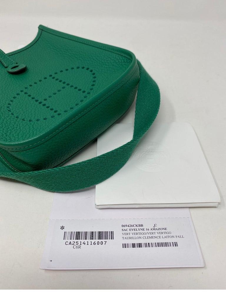 Hermes Vertigo Green Evelyne TPM Bag For Sale 16