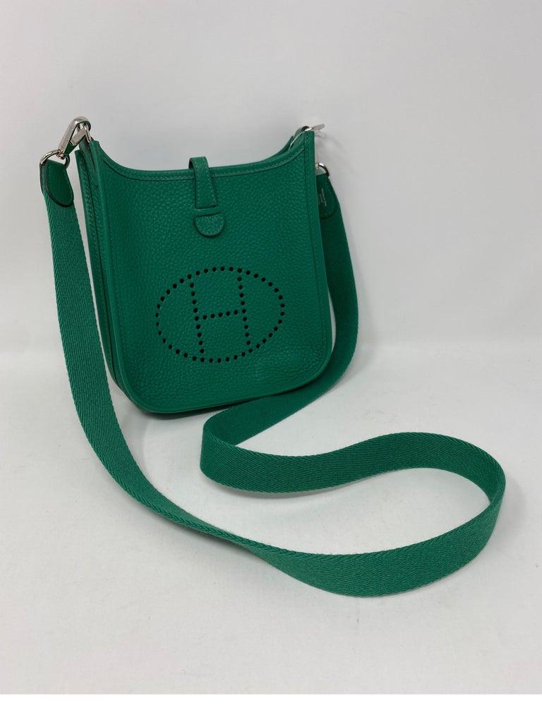 Hermes Vertigo Green Evelyne TPM Bag For Sale 1