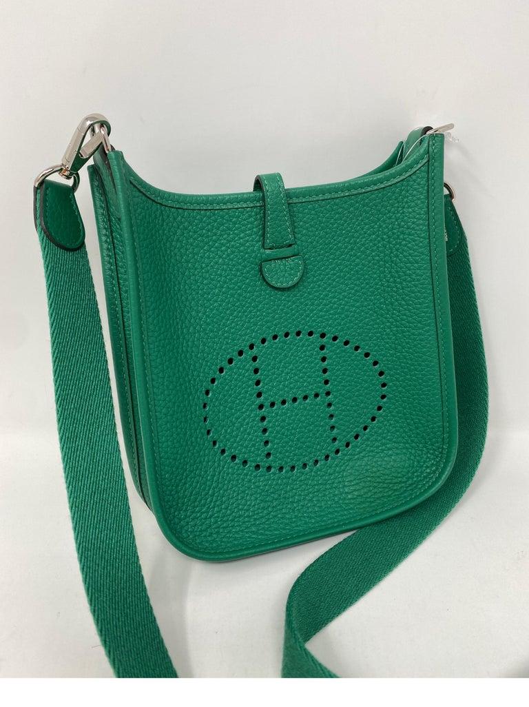 Hermes Vertigo Green Evelyne TPM Bag For Sale 2