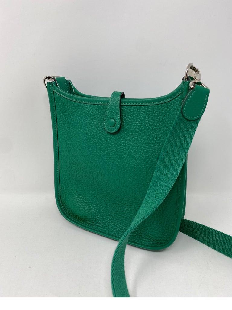 Hermes Vertigo Green Evelyne TPM Bag For Sale 3