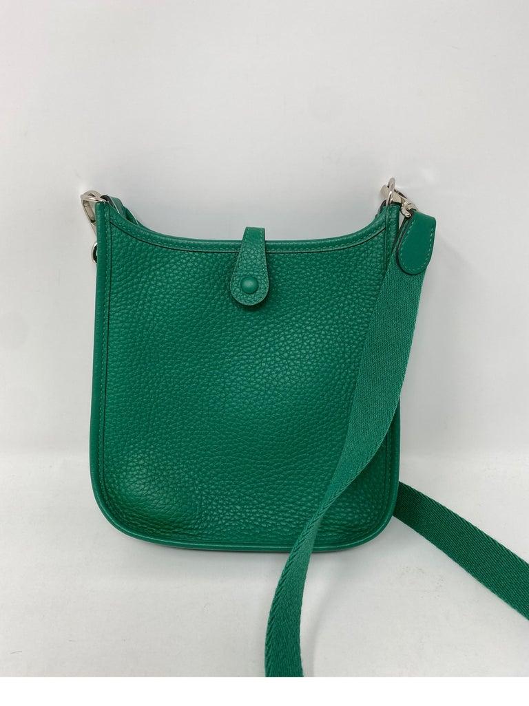 Hermes Vertigo Green Evelyne TPM Bag For Sale 4