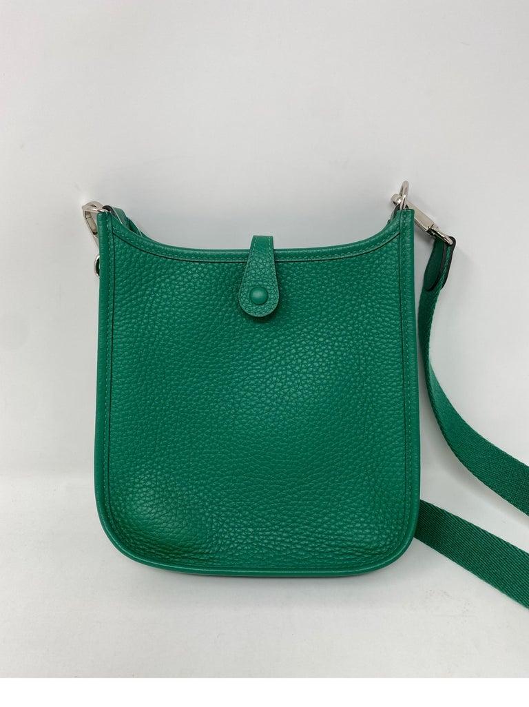 Hermes Vertigo Green Evelyne TPM Bag For Sale 5