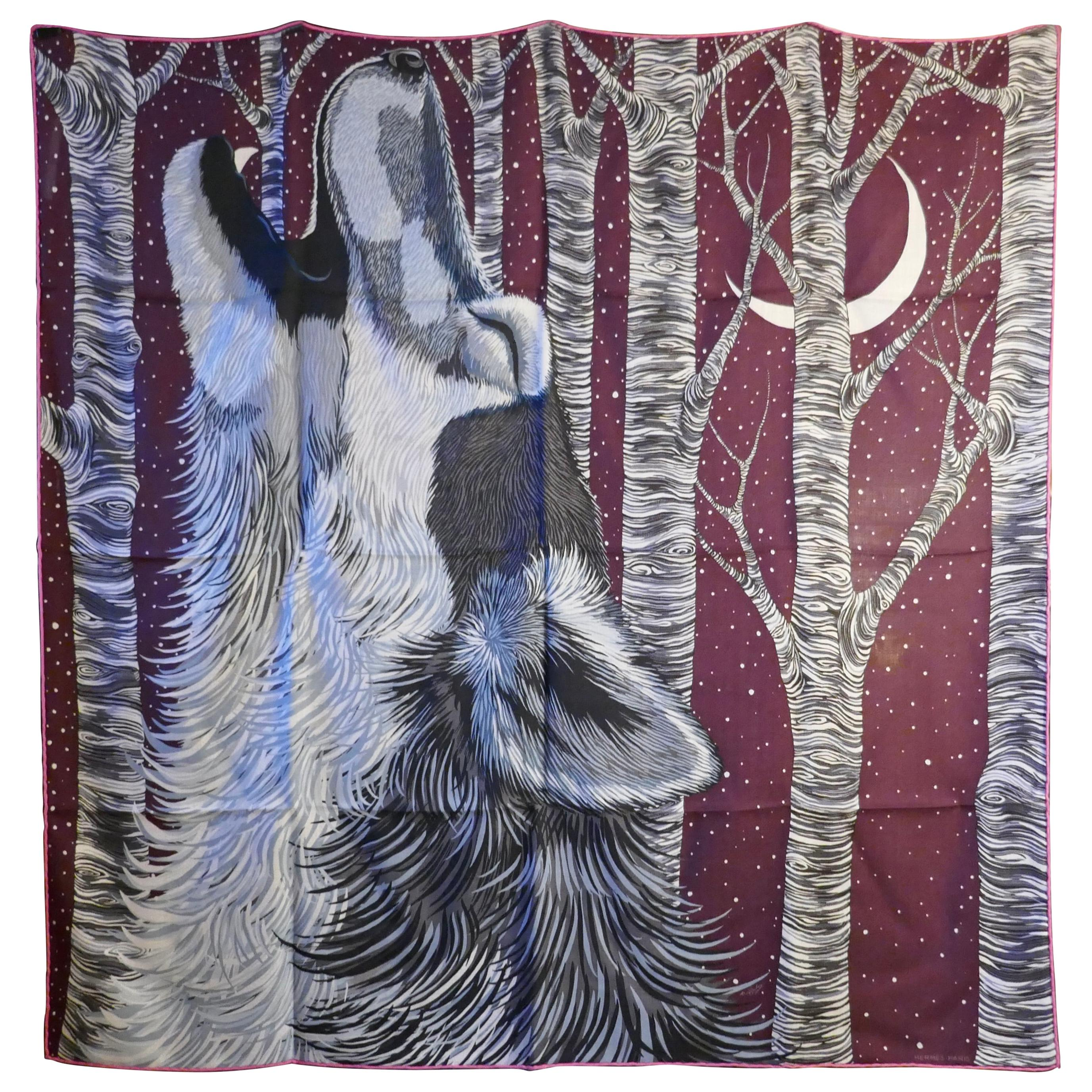 """Hermes Very Special Issue Cashmere and Silk Scarf """"AW00000"""" by Alice Shirley"""