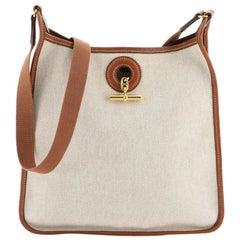Hermes Vespa Bag Toile and Leather PM