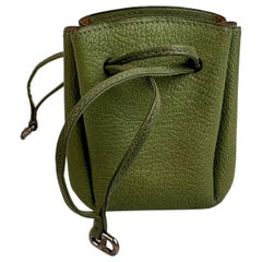 Hermes Vespa Mini Drawstring Pouch Charm Green Messenger Bag Purse