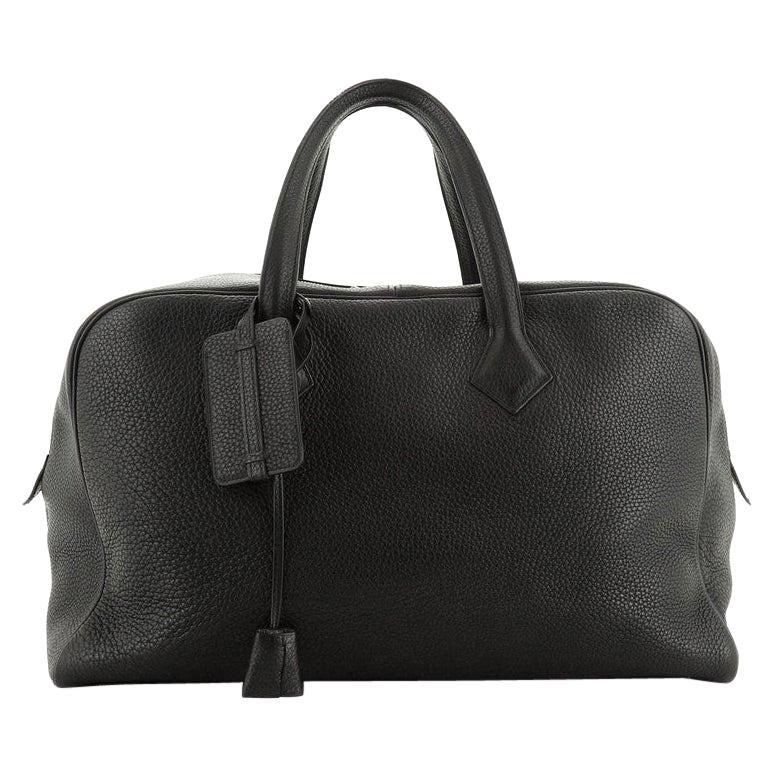 Hermes Victoria II Travel Handbag Clemence 43  For Sale