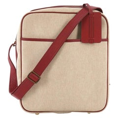 Hermes Victoria Messenger Bag Toile with Leather Medium