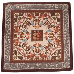 Hermes Vinatge Shawl / Scarf Early America Cashmere and Silk