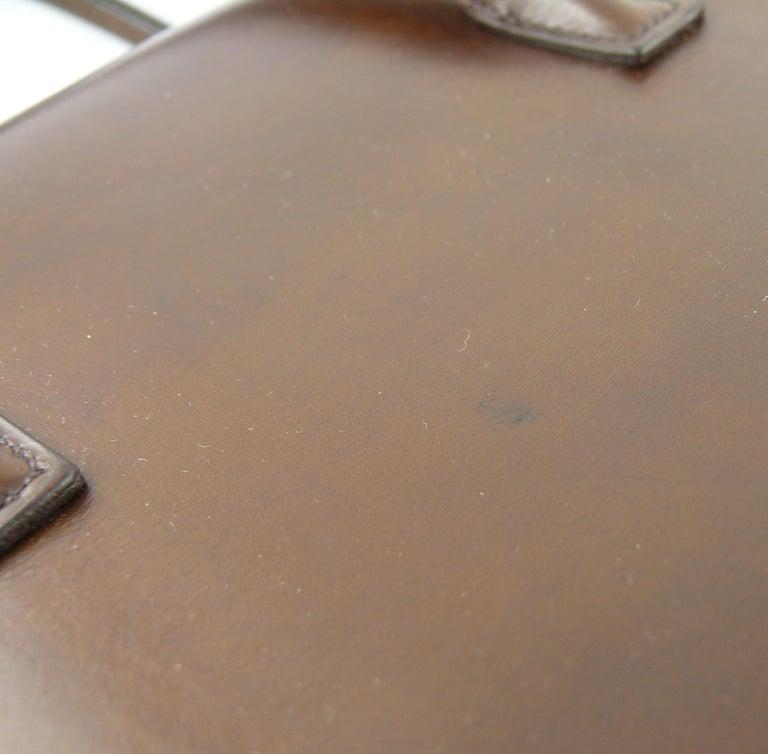 Hermes Vintage 1962 Brown Box Leather 27cm Drag Bag For Sale 11