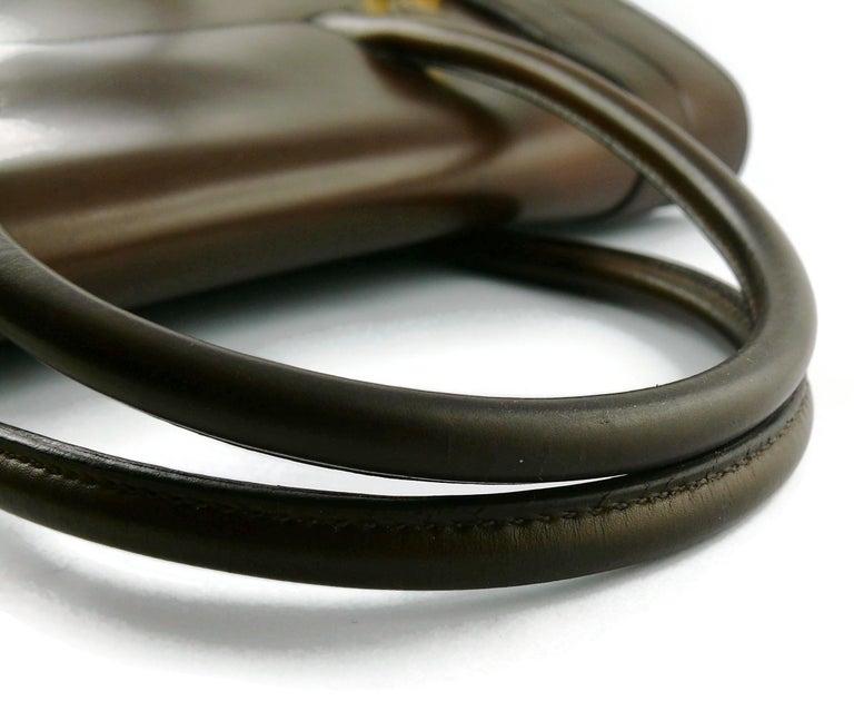 Hermes Vintage 1962 Brown Box Leather 27cm Drag Bag For Sale 13