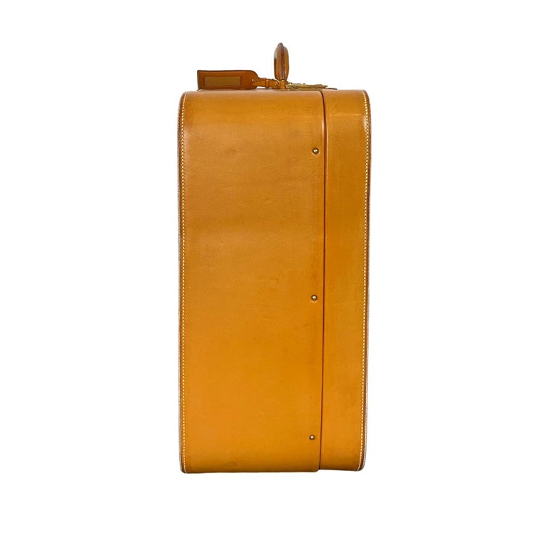 Extremely Rare Hermès Vintage Automobile Valise Suitcase Travel Luggage, circa 1972. Originally introduced in the Early 20th Century by grandson Émile-Maurice Hermès, Hermes luggage was an early contender for travel wear amongst the worlds elite