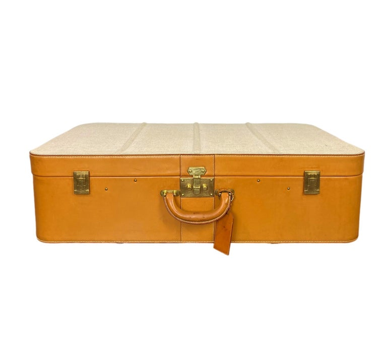 Hermès Vintage Automobile Valise Suitcase Travel Luggage, circa 1972. In Good Condition For Sale In Banner Elk, NC