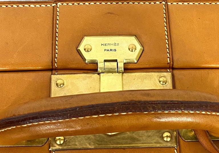 Hermès Vintage Automobile Valise Suitcase Travel Luggage, circa 1972. For Sale 2