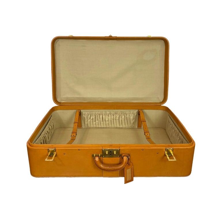 Hermès Vintage Automobile Valise Suitcase Travel Luggage, circa 1972. For Sale 3