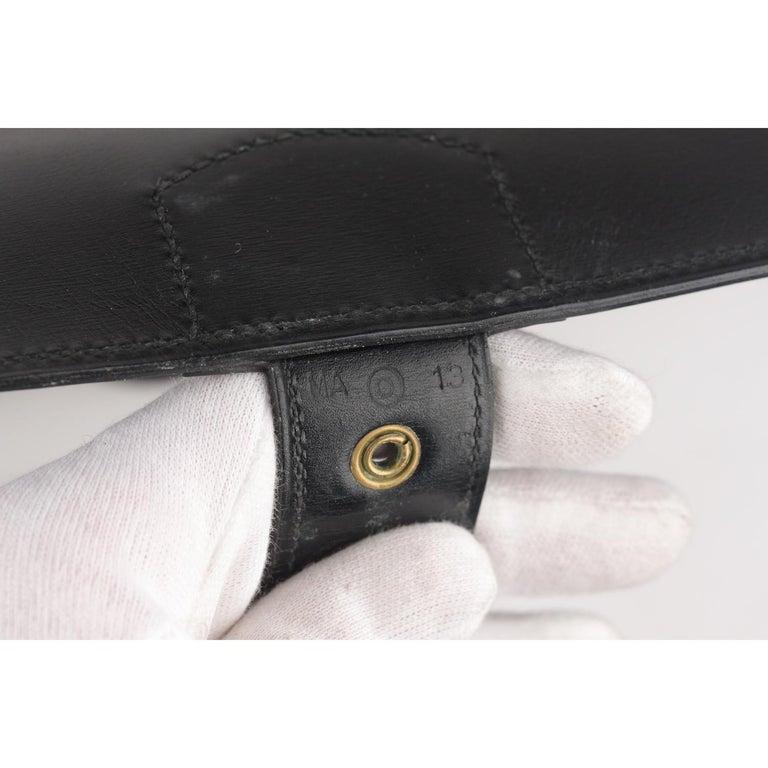 Hermes Vintage Black Leather Box Sac a Depeche Shoulder Bag 10