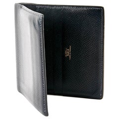 Hermes Vintage Black Leather Card Holder