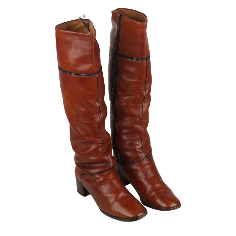 e8b58f196be Valentino Garavani Vintage Tan Leather Salome Pumps Heels Shoes For Sale at  1stdibs