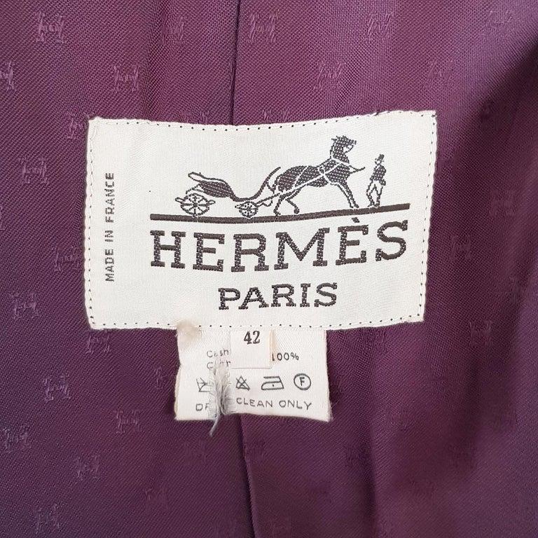 Hermès Vintage Cashmere Coat FR42 IT46 For Sale 1