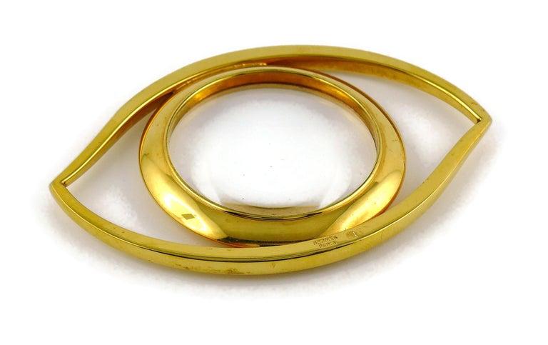 Women's or Men's Hermes Vintage Cleopatra Eye Desk Magnifying Glass Paperweight For Sale