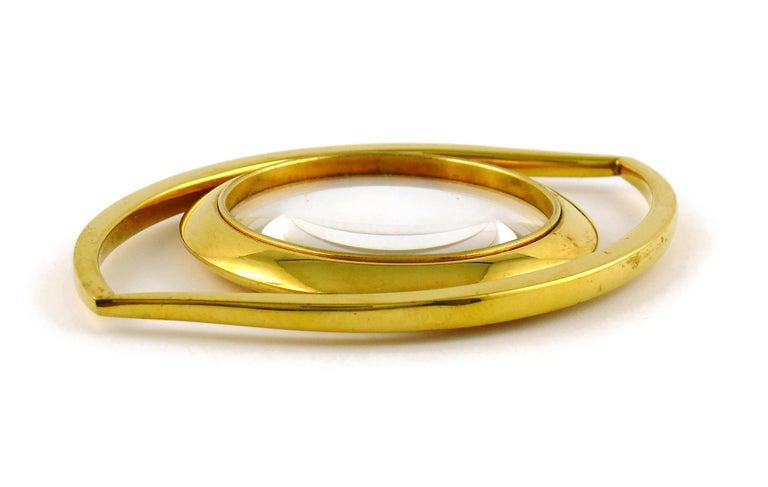 Hermes Vintage Cleopatra Eye Desk Magnifying Glass Paperweight For Sale 1