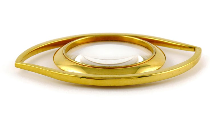 Hermes Vintage Cleopatra Eye Desk Magnifying Glass Paperweight For Sale 2